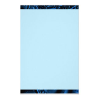 Blue Ripple Partial Border Stationery