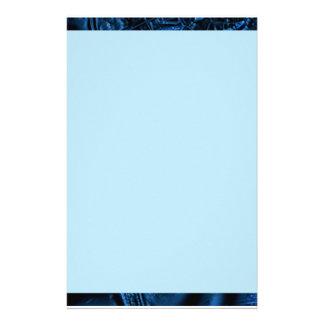 Blue Ripple Partial Border Stationery