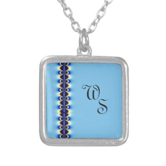 Blue Ripple Silver Plated Necklace