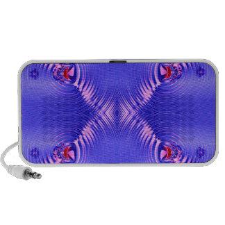 Blue ripple iPod speakers