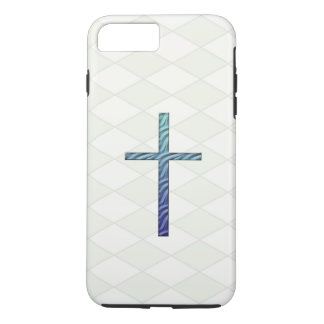 Blue Rippled Cross-Religious iPhone 7 Plus Case