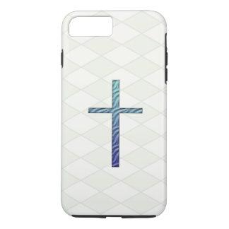 Blue Rippled Cross-Religious iPhone 8 Plus/7 Plus Case