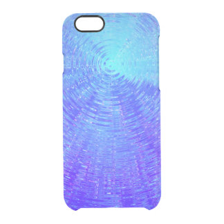Blue Ripples Clear iPhone 6/6S Case
