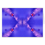 Blue Ripples Greeting Card