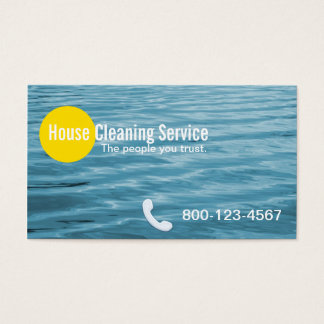 Blue Ripples House Cleaning Business Card