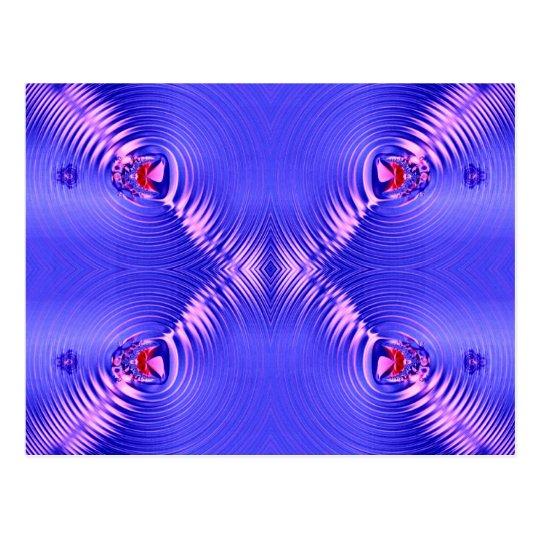 blue ripples postcard