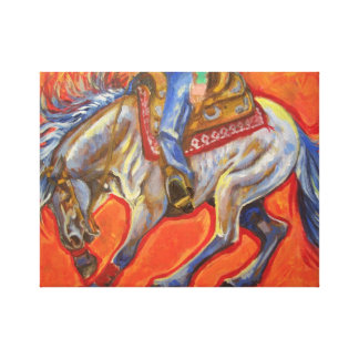 Blue roan reining horse canvas print