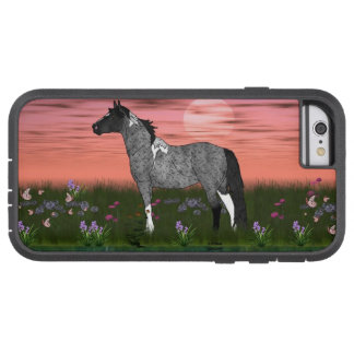 Blue Roan Tobiano Paint Horse Tough Xtreme iPhone 6 Case