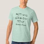 Blue Robert Frost Poem Shirt