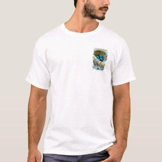 Blue Robins Birds Eggs in Nest Nature Art Photo T-Shirt