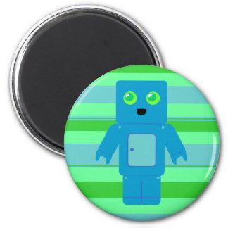 Blue Robot 2 Inch Round Magnet