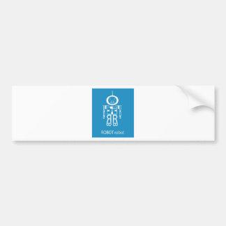 Blue Robot Bumper Sticker
