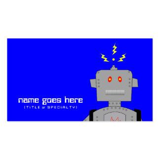 blue robot business card