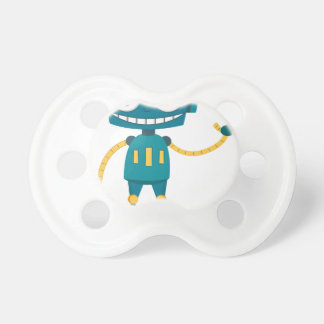 Blue Robot Cartoon Pacifier