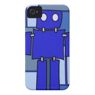 Blue Robot iPhone 4 Cover