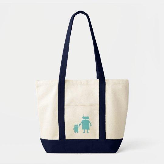 Blue Robot Diaper Bag