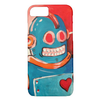 Blue Robot iPhone 7 Case