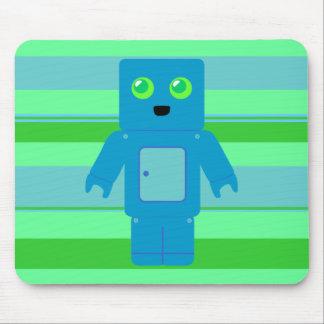 Blue Robot Mouse Pad