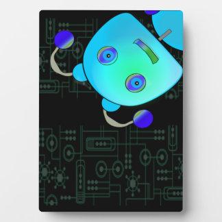 Blue Robot Plaque