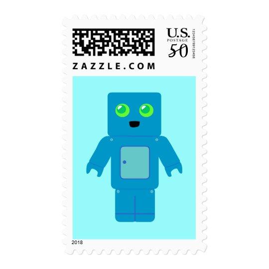 Blue Robot Postage