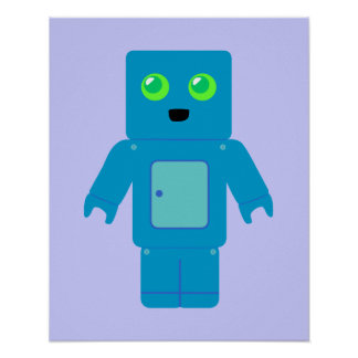 Blue Robot Posters