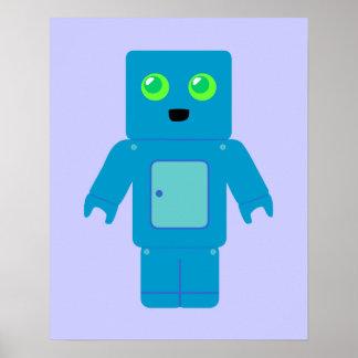 Blue Robot Poster