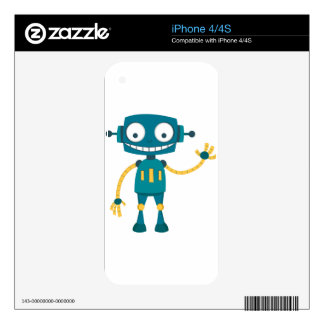 Blue Robot Skin For The iPhone 4S