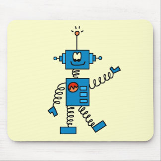 Blue Robot Tshirts and Gifts Mouse Pad