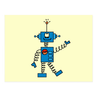 Blue Robot Tshirts and Gifts Postcard