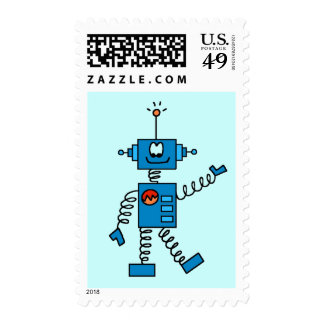 Blue Robot Tshirts and Gifts Stamp