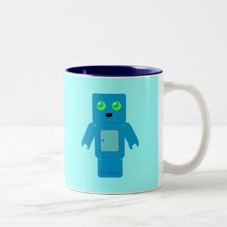 Blue Robot Two-Tone Coffee Mug