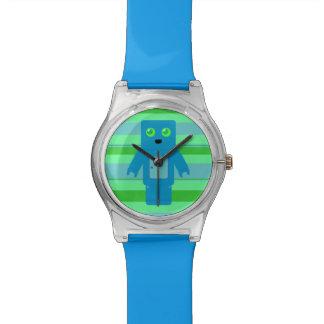 Blue Robot Wristwatch