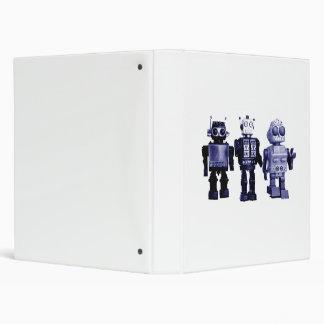 blue robots binder