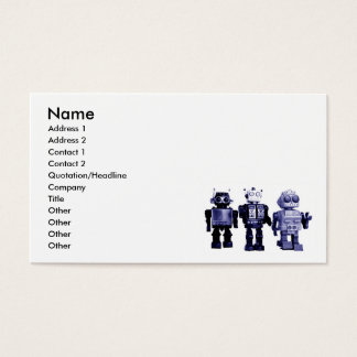 blue robots business card