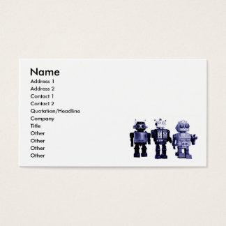 blue robots business card