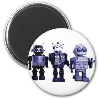 blue robots magnet