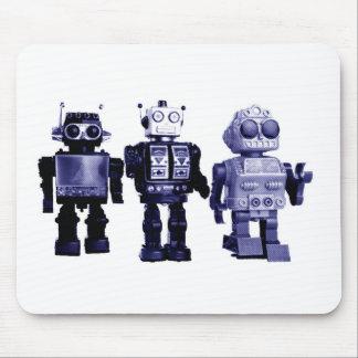 blue robots mousepad
