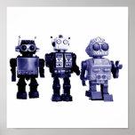 blue robots poster