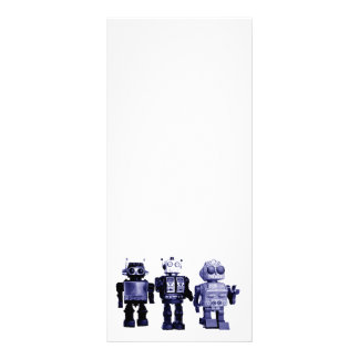 blue robots rack card