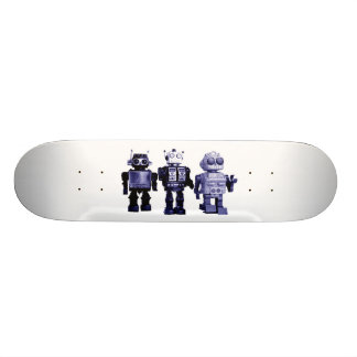 blue robots skateboard