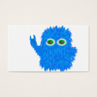 Blue Rock N Roll Monster Business Card