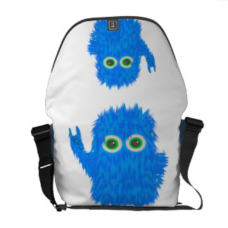 Blue Rock N Roll Monster Courier Bags