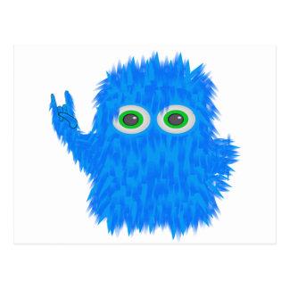 Blue Rock N Roll Monster Postcard