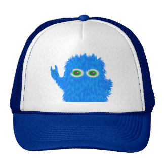 Blue Rock N Roll Monster Trucker Hat