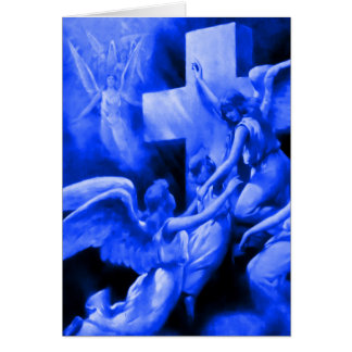 Blue Rock of Ages Greeting Card