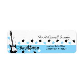 Blue Rock Star PRINTABLE ADDRESS LABELS