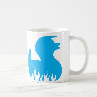 Blue Rockabilly Duck Mugs