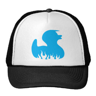 Blue Rockabilly Duck Trucker Hat