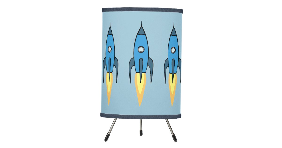 Rocket Ship Outer E Kids Room Decor