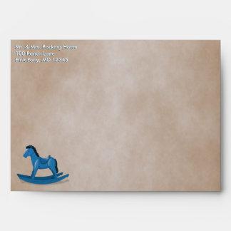 Blue Rocking Horse Custom Envelope